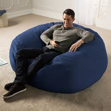 Jaxx 5 Ft. Giant Bean Bag Chair (Navy), Blue, Size Extra ... Shop Regal In House Bean Bag Chair Navy S Online In Dubai Lifestyle Vinyl Blue Bean Bags Twist Stripes Outdoor Amazoncom Wild Design Lab Elliot Cover 6foot Microfiber And Memory Foam Coastal Lounger Nautical And White Buy Large Comfort Seating Fniture For Classic Fully Comfortable Washable Velvet Can Bean Bags Denim With Piping Ftstool Blue Lounge Pug Denim Adult Beanbags Inflatable Lazy Air Bed Couch Sofa Hangout