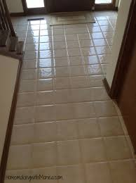 cleaning floor grout with vinegar and baking soda