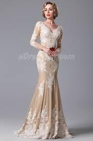 2015 new gorgeous v cut lace applique evening gown formal dress