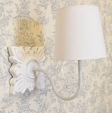 country shabby chic style ivory martine wall light white