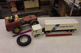 Napa Automotive Parts Toy Truck, Vintage Toy Tractor& Rubber Tire ...