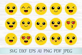 Emoji Svg Emoticon Clipart Kawaii