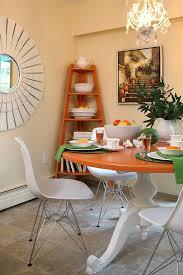 Freestanding Corner Bookshelf In The Dining Area Design Maria Killam