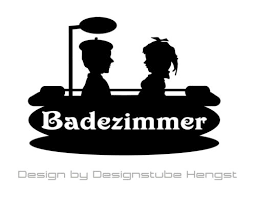badezimmer bad sticker 12 x 9 cm i wc i bad i tür i tatto i