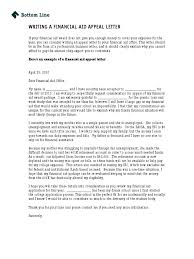 Bottom Line Writing a Financial Aid Appeal Letter Doc