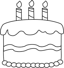 Vector and Black And White Birthday Clipart Clipart Free To Use