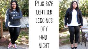 plus size fall of the day and night leather leggings