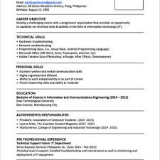 Example Resume Fresh Graduate Business Administration Valid Sample Format For Graduates E Page