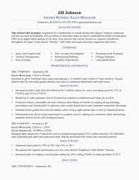 Sample Manager Resume New Sales
