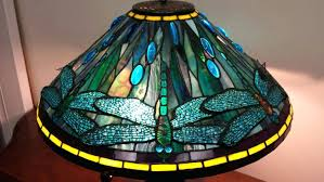 Tiffany Style Glass Torchiere Floor Lamp by Floor Lamps Blue Dragonfly Stained Glass Table Lamp Tiffany