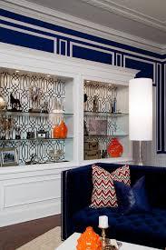 Blue Velvet Sofa Living Room Modern With Hollywood Regency