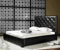 Black Leather Headboard Bed by Bedroom Espresso Polished Teak Wood Storage Bed Frame With