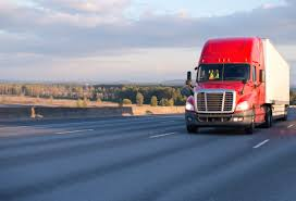 100 How Wide Is A Semi Truck Big Rig Red Semi Truck With Trailer On Wide Highway Blizzard Law PLLC