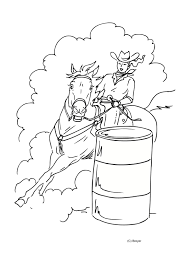 Cowboy Horses Coloring Pages
