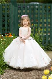 girl u0027s pageant dress tiered flower applique girl formal dresses
