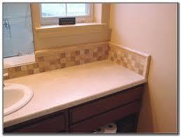backsplash above bathroom sink sink and faucets home