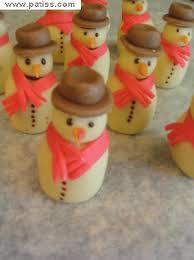 bonhomme de neige en pate d amande décoration gâteau
