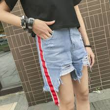 high quality red jeans shorts promotion shop for high quality