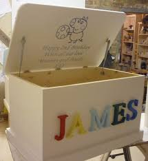 personalised toy box u2013 3d letters or carved in hand made in home