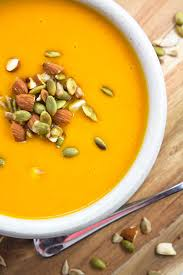 Pumpkin Butternut Squash Soup Vegan by Butternut Squash Soup W Toasted Nuts And Seeds Almondtozest Com