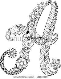 Coloring Book For Adults Letter A