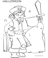 Kids Halloween Costume Pages Free Printable Coloring