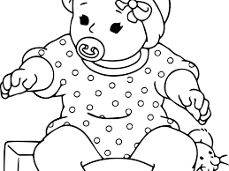 Doll Coloring Pages For Baby