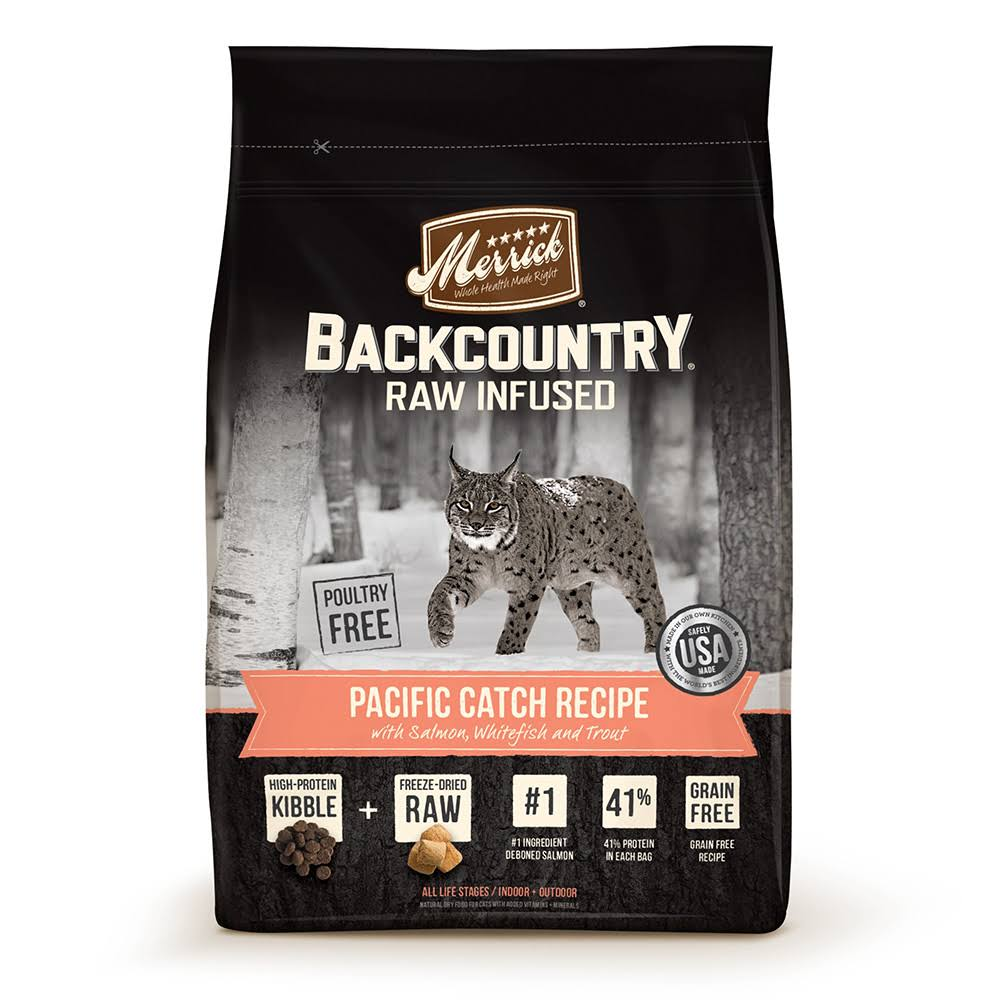 Merrick Backcountry Grain Free Raw Infused Dry Cat Food - Pacific Catch Recipe, 3lbs