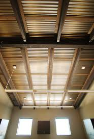 Corrugated Ceiling In Office. | Metal Accents | Pinterest ... Best 25 Corrugated Metal Walls Ideas On Pinterest Metal Gutter Guards For Standing Seam Roof Roofing Vs Pros Cons Of Each Suntuf 26 In X 8 Ft Polycarbonate Panel Clear101697 Roofing Buildings Pole Barn Shop Trusnap Siding And By Bridger Steel 346 Best Sheet Images Projects Balcony Roof Tin Stunning Panels Find Tin Kitchen Wall