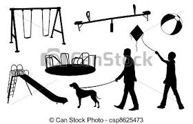 Playground Toy Set Isolated Drawings Search Clipart Illustration Rh Canstockphoto Com Black And White
