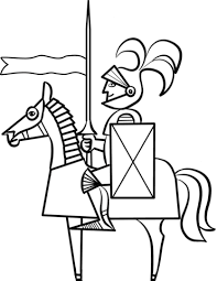 Click To See Printable Version Of Cartoon Knight On Horse Coloring Page