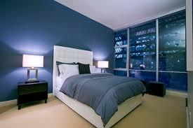 Modern Blue Bedroom Ideas With White Platform Bed