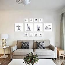 foto wandschmuck wand wohnzimmer ideen bilderrahmen wand aus