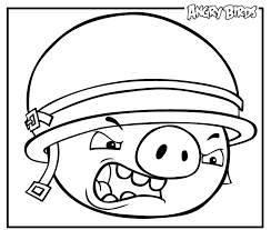 Image Of Angry Birds Space Big Pig Coloring Pages