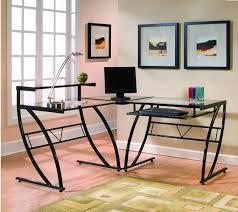 brayden studio davie glass l shape computer desk reviews wayfair
