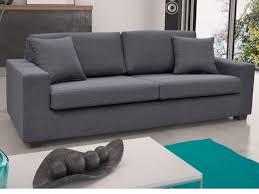 canapé 3 places gris canapé et fauteuil en tissu gris noir yudo