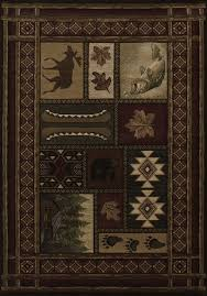 United Weavers Contours Cabin Chalet Toffee Area Rug