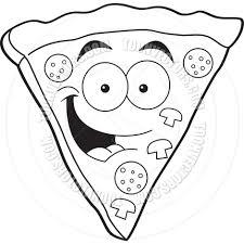 Pizza Slice Clipart Black And White
