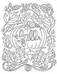Download Coloring Pages Fall Kids A Heart Scarecrow