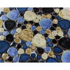 porcelain pebble tile bathroom wall tiles glazed ceramic mosaic