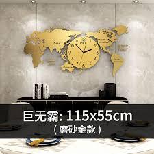 große luxus wanduhr modernes design wohnzimmer gold stille