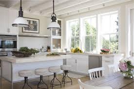 Coastal White Beach House Kitchen