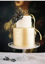 Fall Gold Wedding Cake