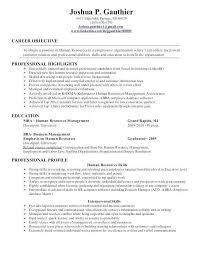 Hr Objectives For Resume Examples Human Resources Assistant
