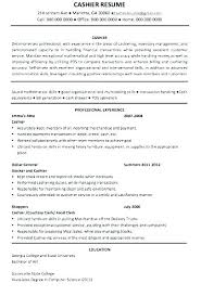 Retail Cashier Resume Sample Example Of Job Examples