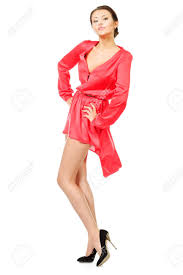 charming pretty woman posing in a beautiful summer dress isolated