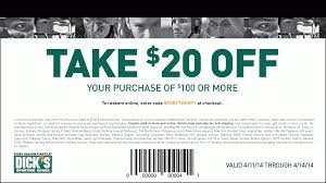 Dick's Sporting Goods Printable In Store Coupon: $20 Off ... How To Use A Dicks Sporting Goods Promo Code Print Dicks Coupons Coupon Codes Blog 31 Hacks Thatll Shock You The Krazy Coupons Express And Printable In Store 20 Off Weekly Ads 20 Much Save With Shopping Deals Promotions Goleta Valley South Little League Official Retail Sponsor Of The World Series