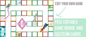Editable Game Board Templates Download