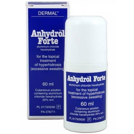 Dermal Anhydrol Forte Hyperhidrosis Excess Sweating Treatment - 60ml