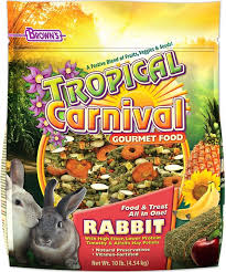 Can Bunny Rabbits Eat Pumpkin Seeds by Brown U0027s Tropical Carnival Rabbit Food 10 Lb Bag Chewy Com